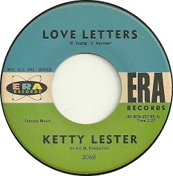 Ketty Lester - Love Letters (1962) - With Song Lyrics, Video